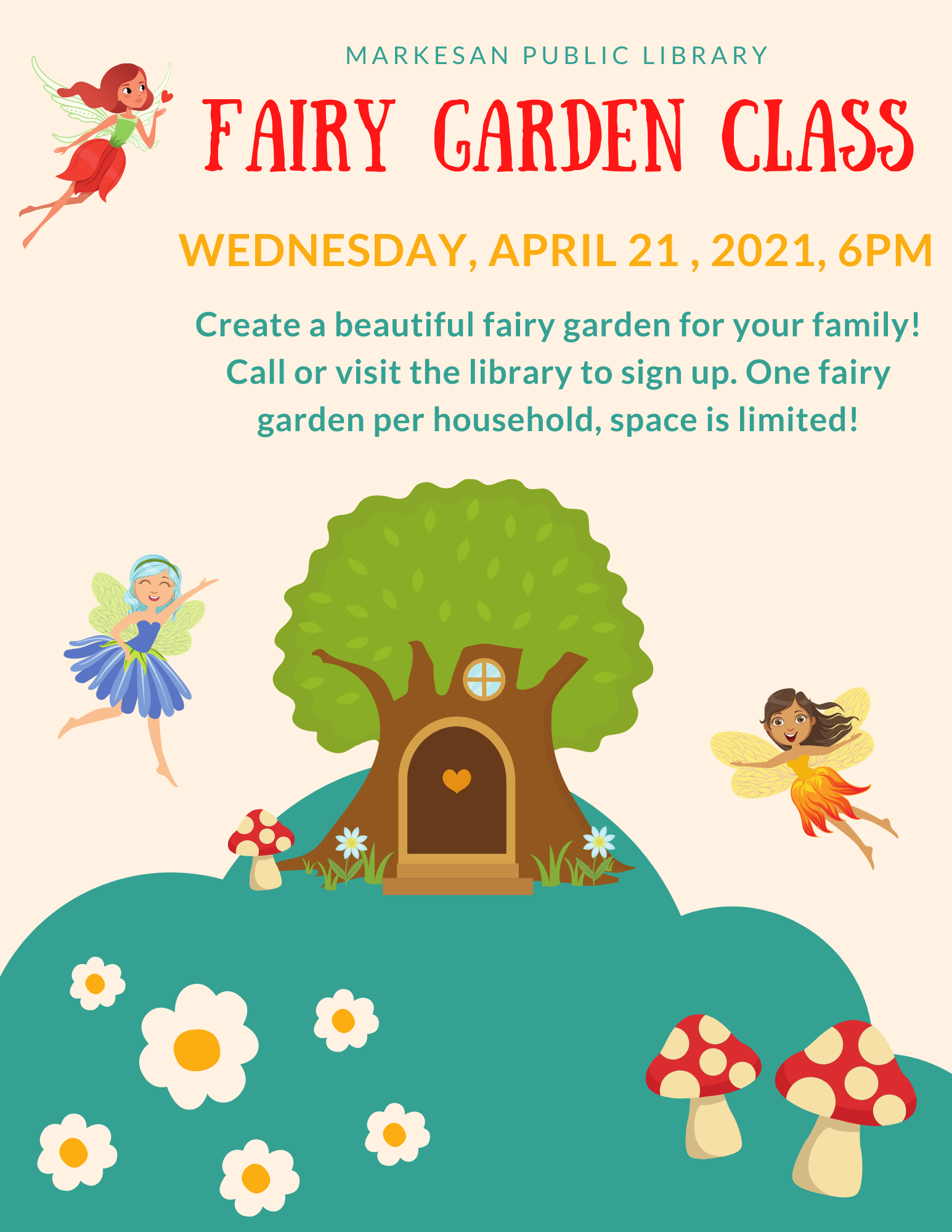 Fairy Garden Class - Wednesday, April 21 @ 6:00 pm (In-Person Event)