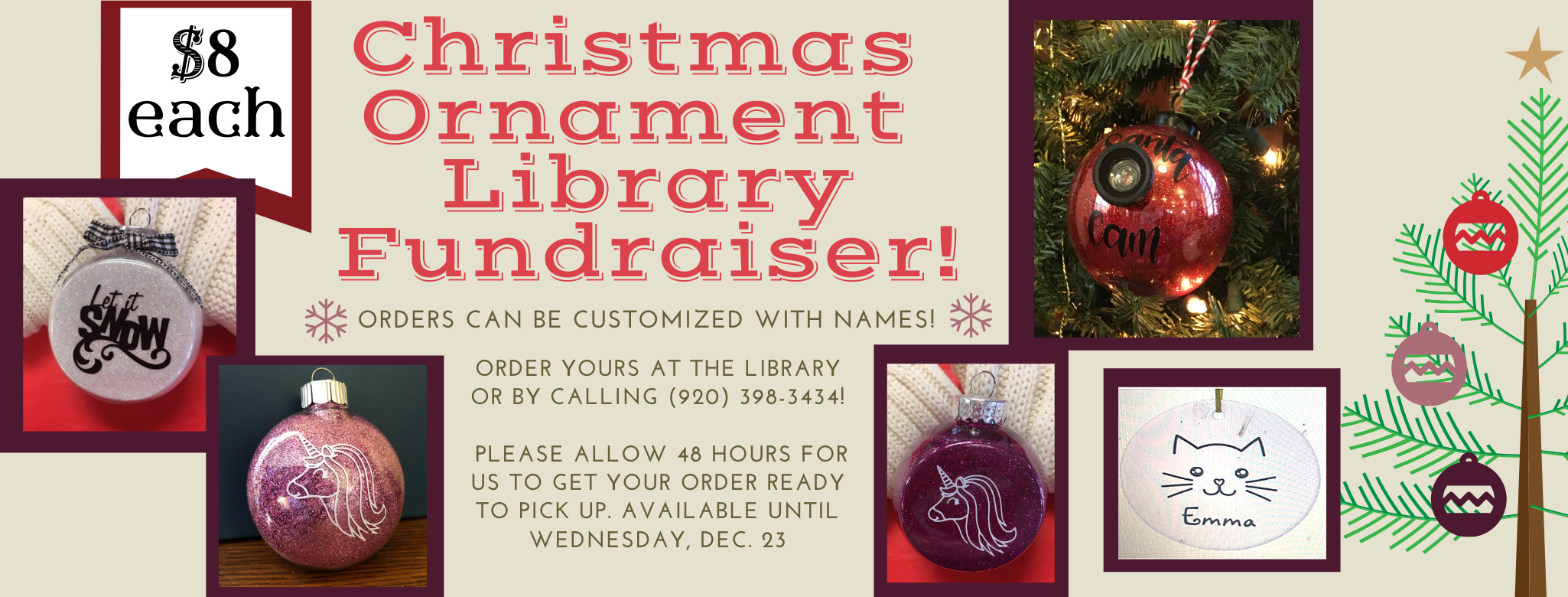 Christmas Ornament Fundraiser