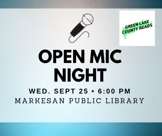 Open Mic Night September 25, 6pm
