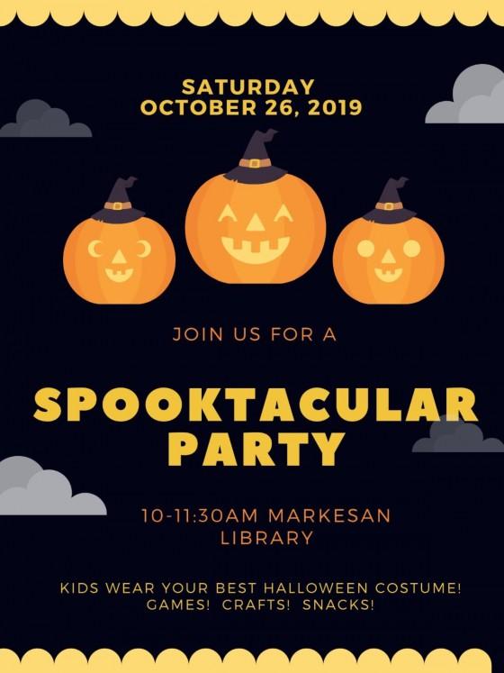 spooktacular information poster