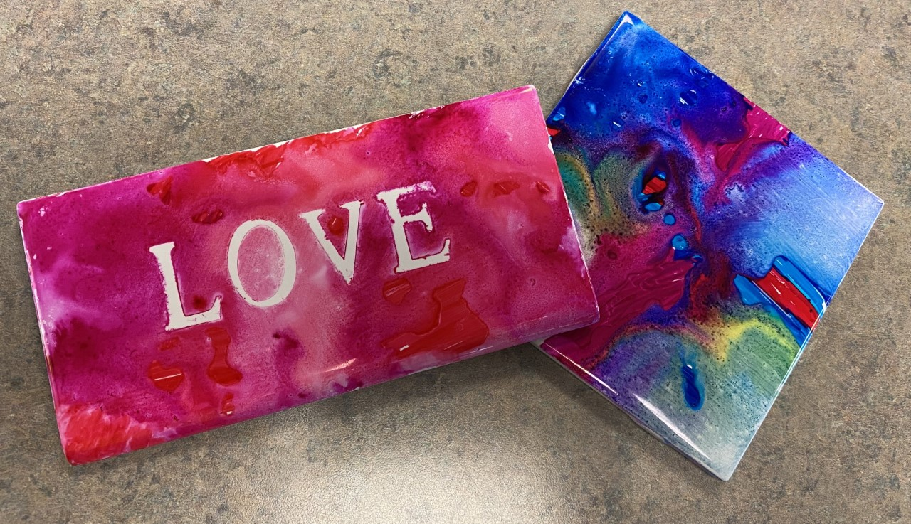 Groovy Tile Craft, February 25, 4 and 6pm
